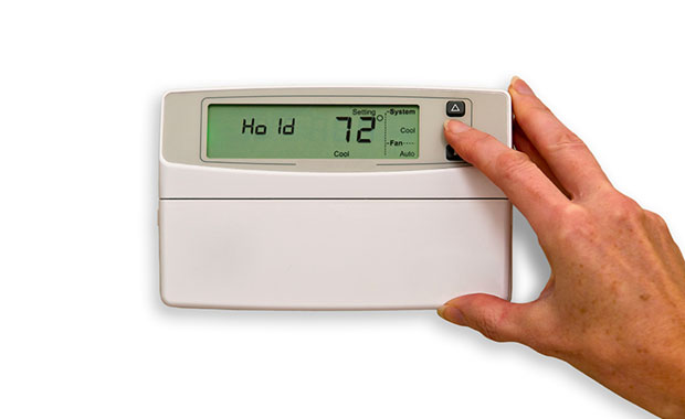 residential home heating and cooling thermostat
